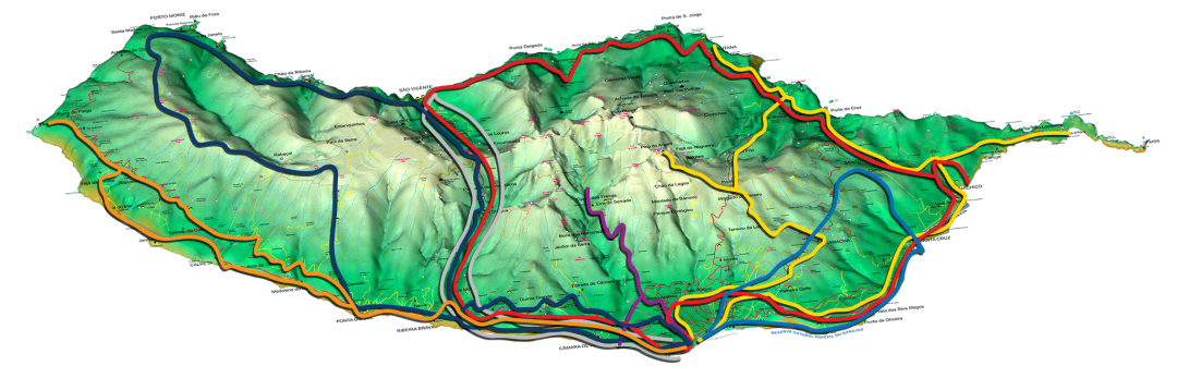 Madeira Island Map with Tours and Walks