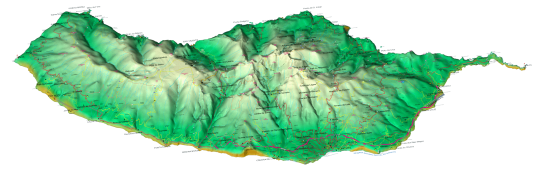 Madeira Island Levadas and Walks Map